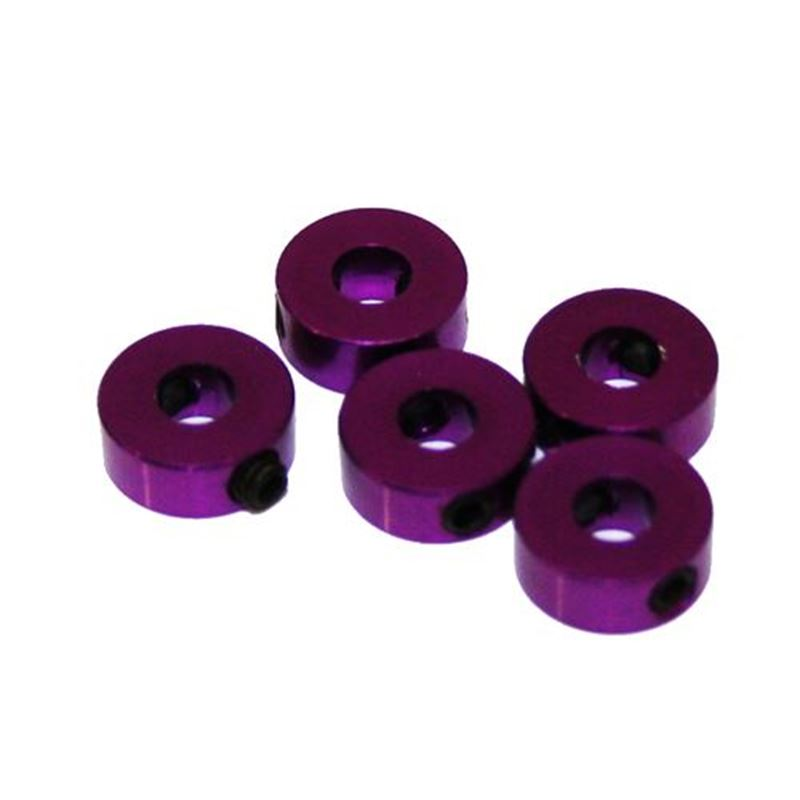 Picture of 4 mm. Aluminum Stopper (Purple) (5pcs)