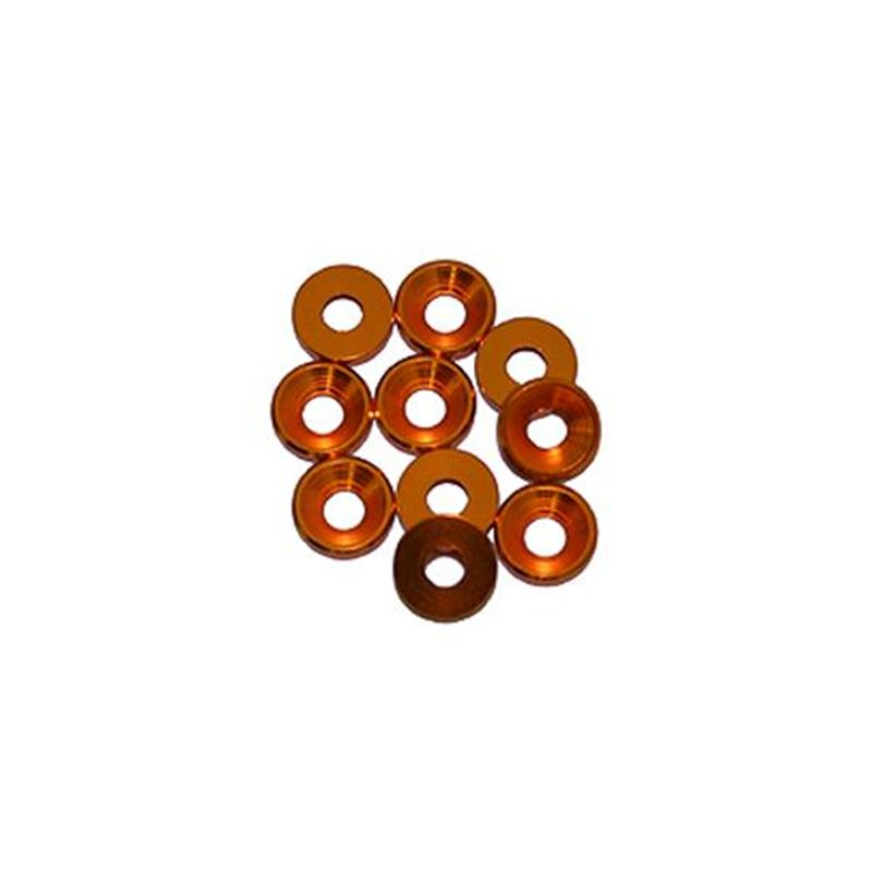 Picture of 3 mm. Alu. Washers Gold (10pcs)