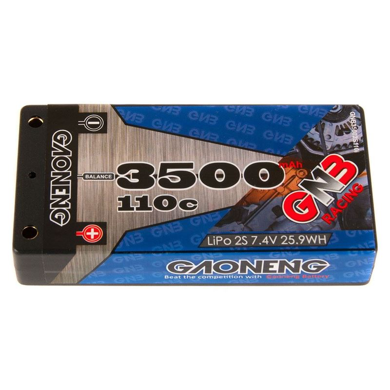 "Picture of GNB Racing 2S 110C LiPo ""Thin"" Shorty Battery Pack (7.4V/3500mAh)"