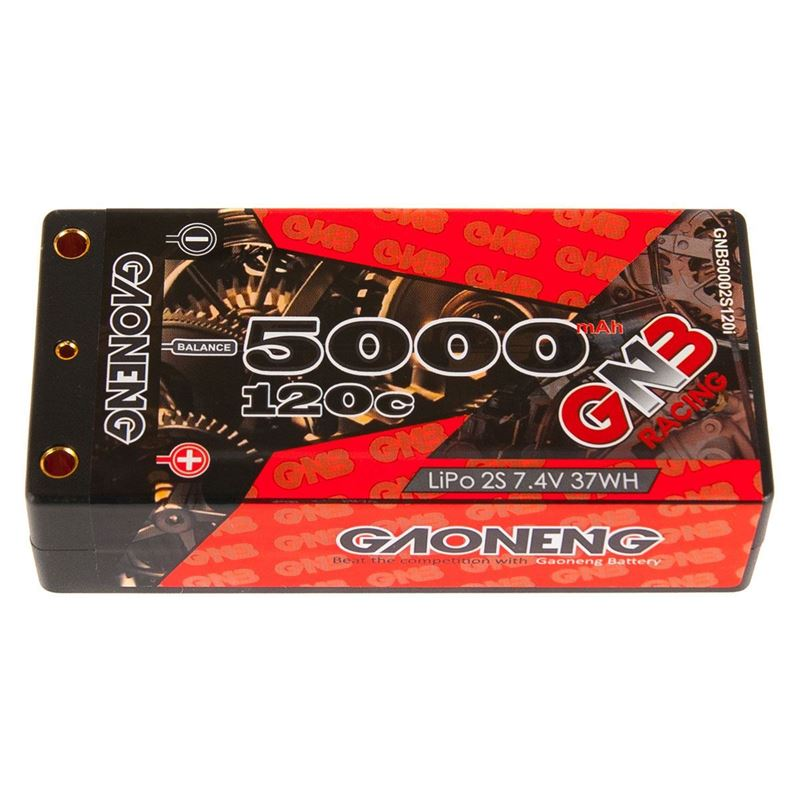 Picture of GNB Racing 2S 120C LiPo Shorty Battery Pack (7.4V/5000mAh)